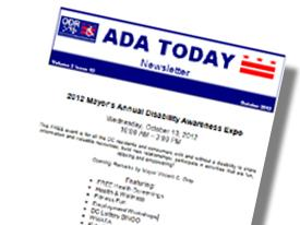 graphic of ADA Newsletter