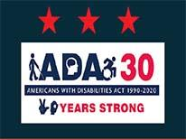 #ADA30 three stars and ADA logo